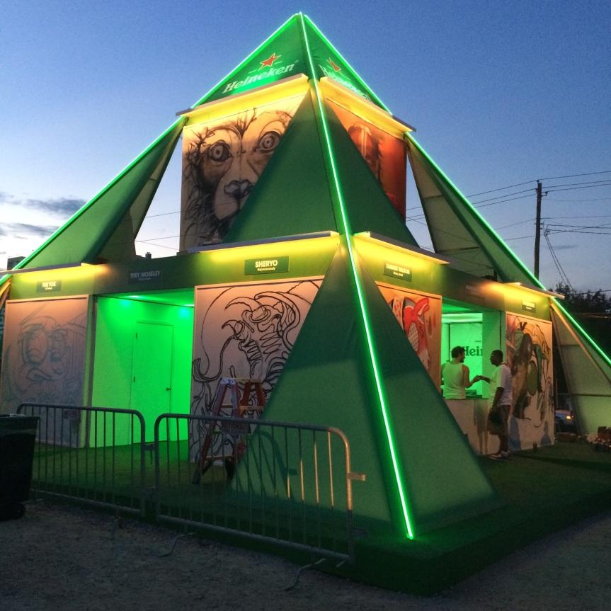 Heineken Art Pyramid