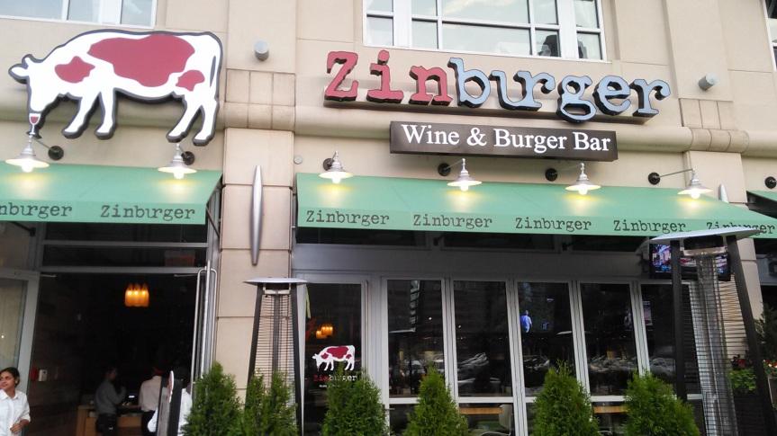 Zinburger Wine and Burger Bar MenuSampling