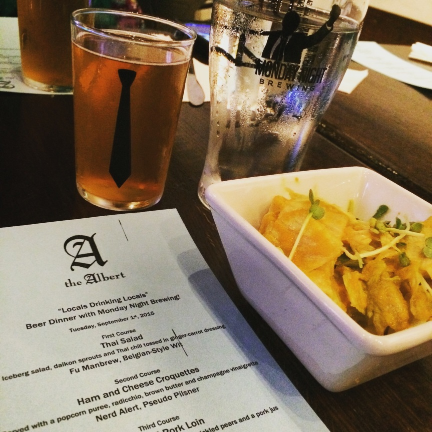 "The Albert ""Locals Drinking Locals"" Beer Dinner with Monday NightBrewing"