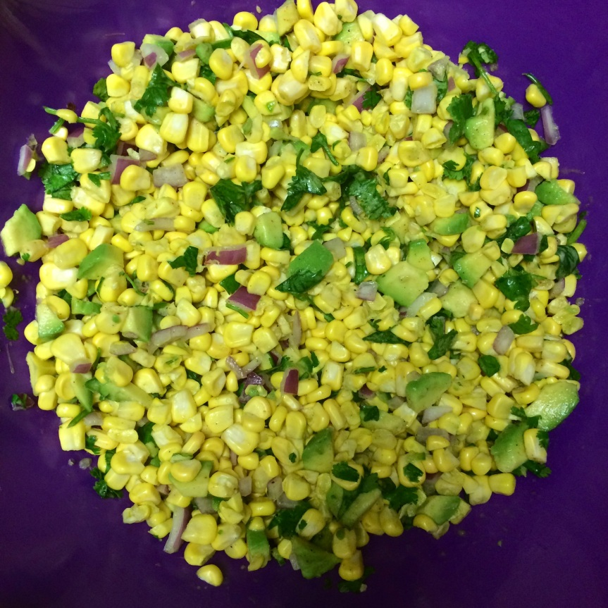 End of Summer Fresh Corn Salad