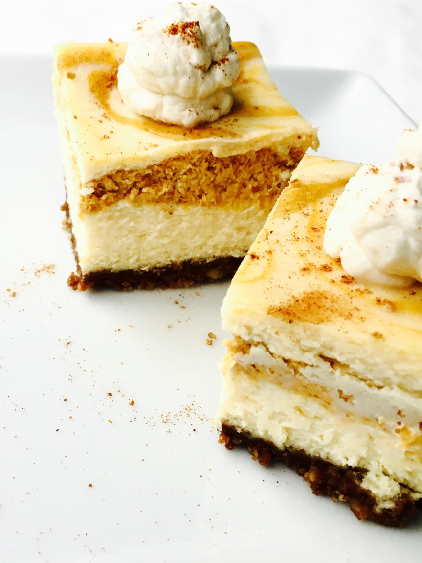 #PassTheJoy Baking Memories w/ Sprouts {Pumpkin Cheesecake Squares Topped w/ Bourbon Whipped Cream}