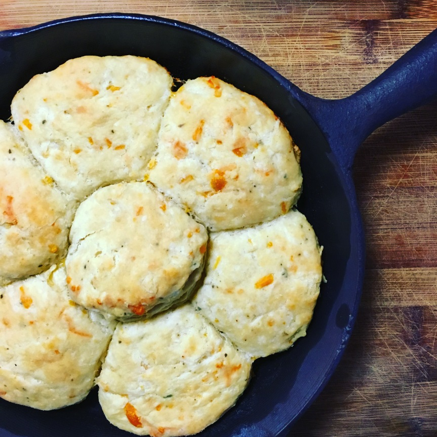 Cheddar Basil Biscuits