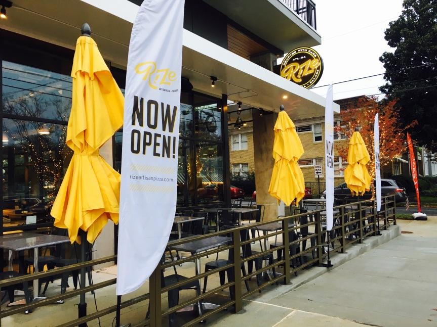 Rize Artisan Pizza + Salads Now Open ~ Atlanta,GA