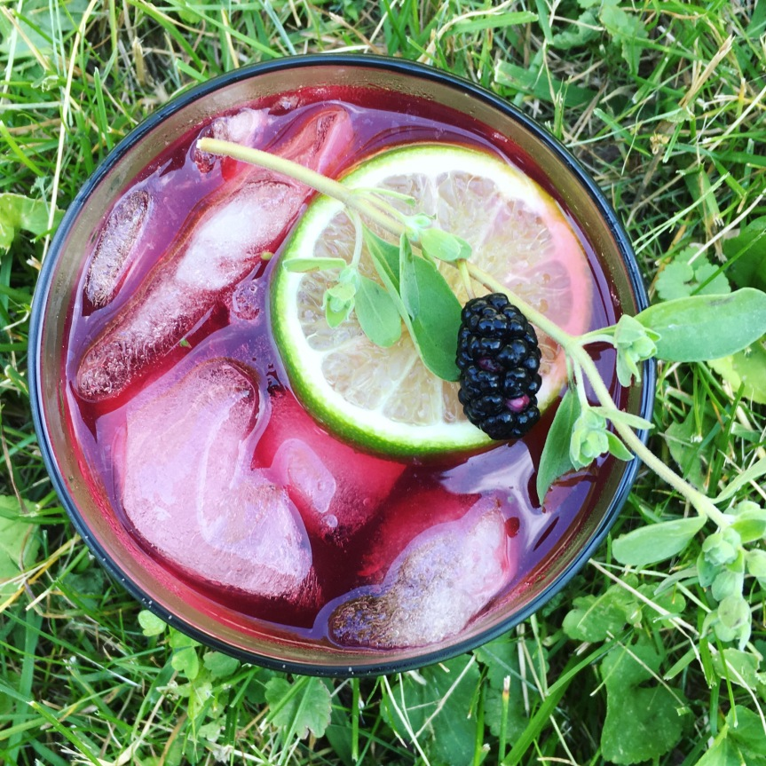 Summer Cocktails-Mulberry Marjoram Mule