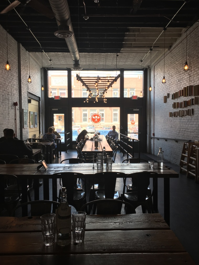 View from inside of Smallman Galley