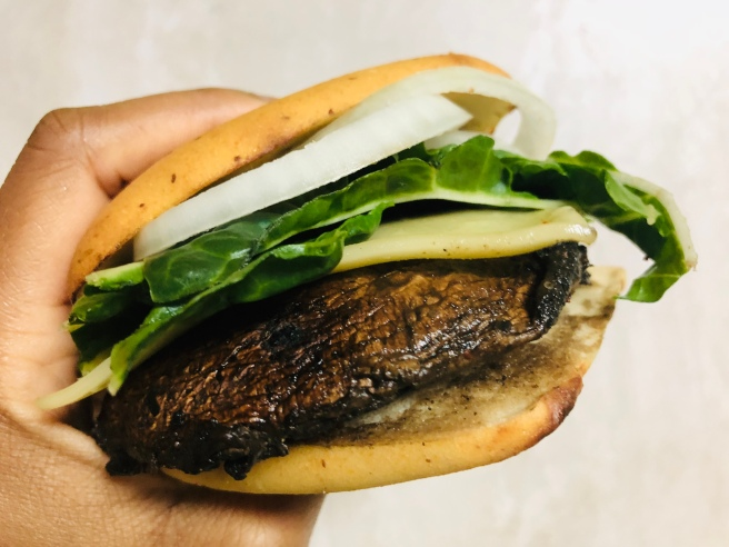 Vegan Grilled Portobello Mushroom Burger