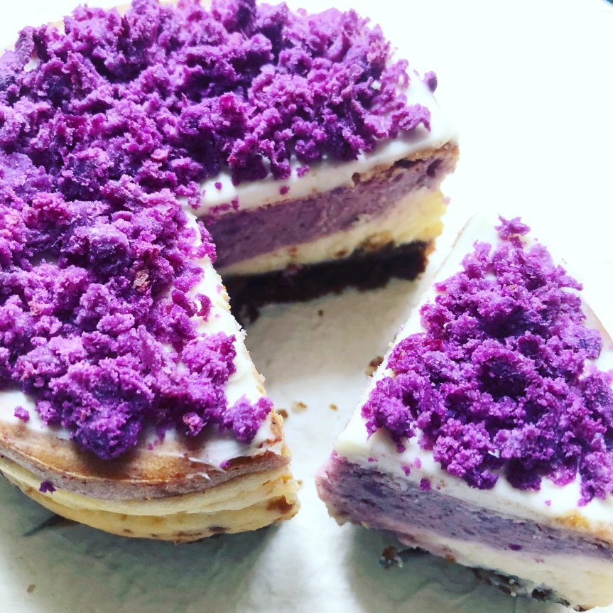 This Purple Sweet Potato Cheesecake Is Everything