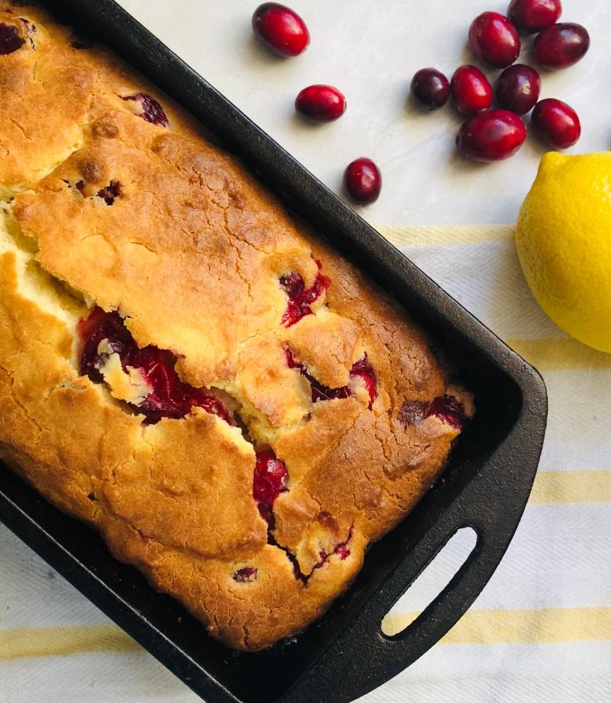 Keto Cranberry Lemon Loaf Featuring StevivaBlend