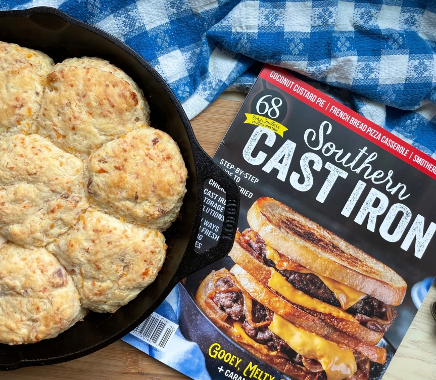 Maple Cheddar Bacon Biscuits Featured In Southern Cast Iron Magazine | Shana Was Here